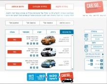 עיצוב דפי הזמנת רכב CAR2GO