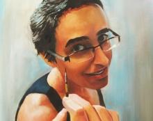 פורטרט עצמי ציור שמן על בד
