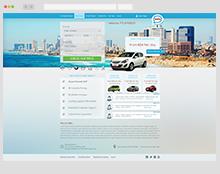 עיצוב אתר להשכרת רכב
