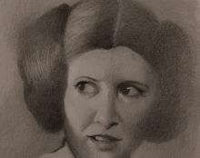 Princess Leia אמנות ישראלית ציור בהזמנה