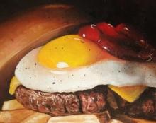 ציור אוכל שמן על בד אמנות ישראלית למכירה